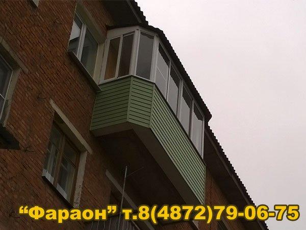 Остеклить балкон в туле, евробалконы - балкон под ключ в тул.